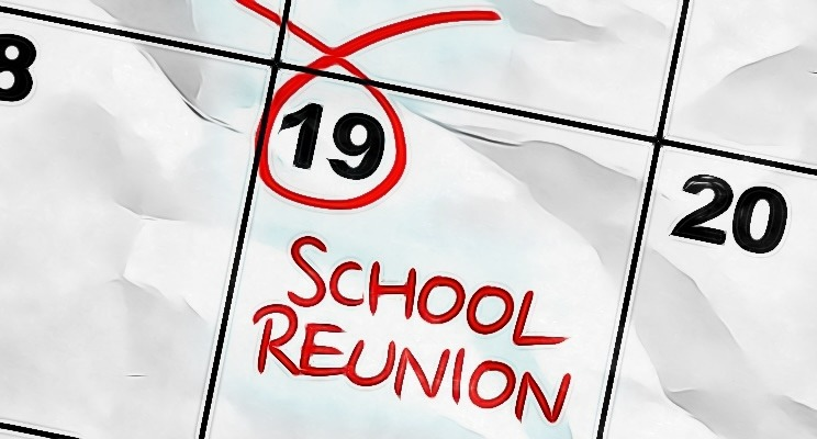 School Reunion Calendar Cartton